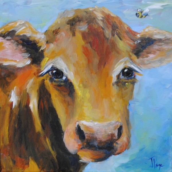 Bessie Cow painting 001