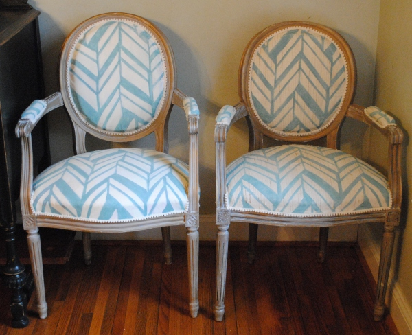 Painted Fabric Chairs 002